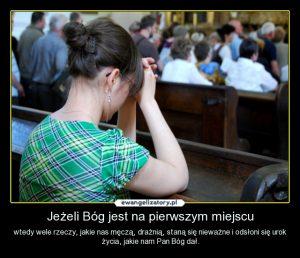 3 - Bóg na pierwszym miejscu, modlitwa wątpiących
